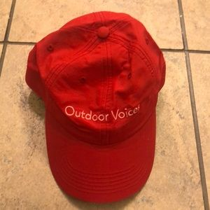 Outdoor Voices Red Baseball Hat